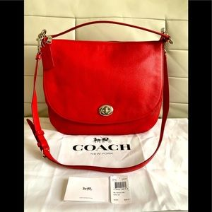 SOLD Authentic Coach ❤️Pebble Leather Hobo Purse